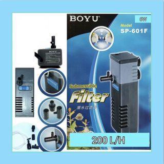 $8 BOYU SP-601F SUMBERSIBLE FILTER 200L/H