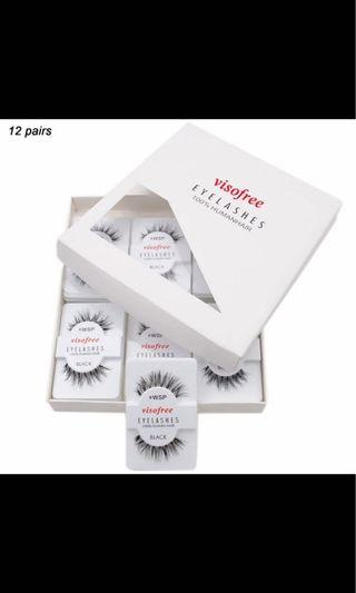 """""""Wsp"""" EYE LASHES 12pack"""