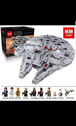 🚚 Pre-order Limited stock Lepin 05132 UCS Millenium Falcon