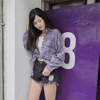 🚚 紫色襯衫