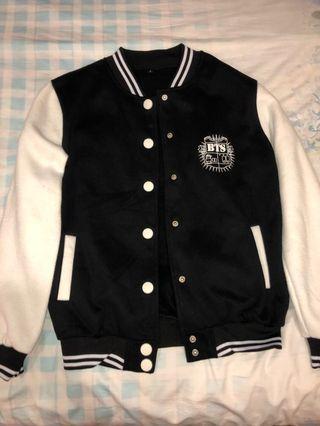BTS Jimin black&white oversized bomber jacket