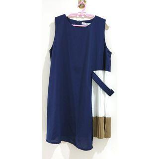 🚚 🐰里歐安琪🐰全館免運❤️韓系不規則裙擺設計無袖設計感短洋裝 連身裙