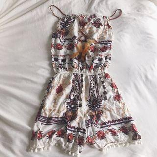 🕊Tribal Feather Romper