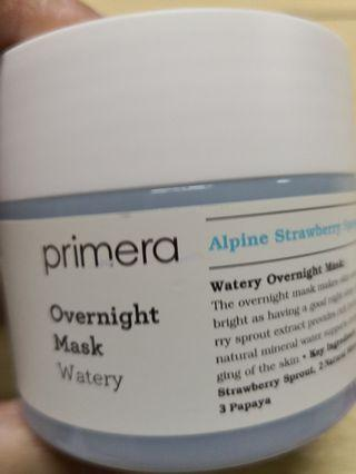 Primera Watery Overnight Mask 水光潤澤充電睡眠面膜 (100ml)