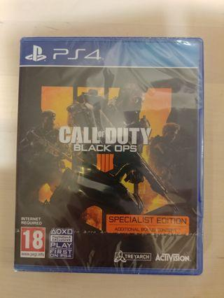 PS4 Call of Duty Black Ops 4 (specialist edition)