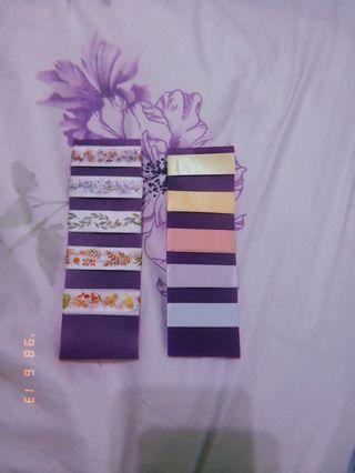 washi tapes samples!