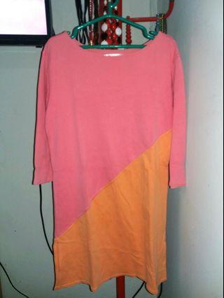 Mididress 2tone Color