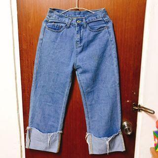 百搭時尚反折寬褲