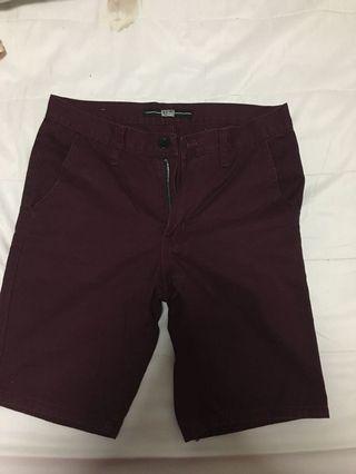 Maroon Men's Short