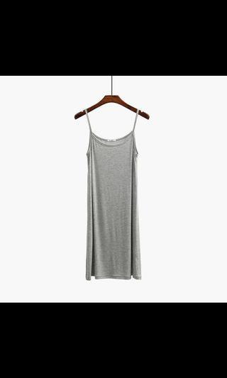 [Brand New] Grey Modal Slip Dress, adjustable straps, size xl