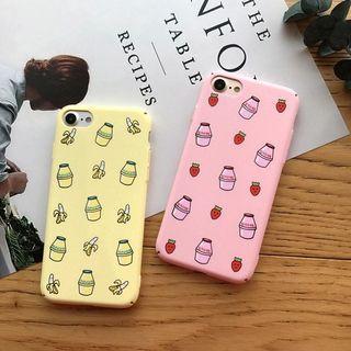 🚚 Korean Banana / Strawberry Milk iPhone Case