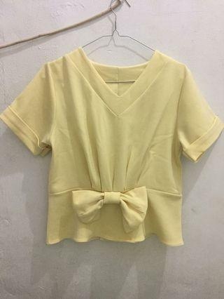 Yellow Top #atasan #baju atasan