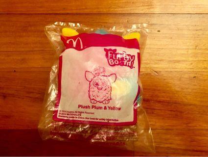 McDonald Furby Boom Plush Plum & Yellow