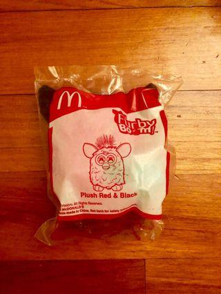 🚚 McDonald Furby Boom Red and Black Plush