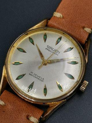 古董 Gruen daylight 手上弦包金手錶