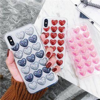 🚚 Glitter Hearts iPhone Case