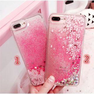 🚚 Sakura Glitter Quicksand iPhone Case