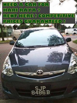 (FULLY BOOKED) TOYOTA WISH 1.8A