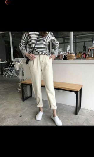 白色牛仔褲