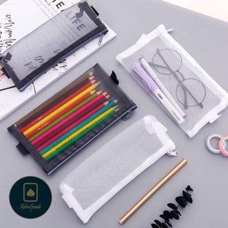 ☑️Mesh Transparent Pencil Case