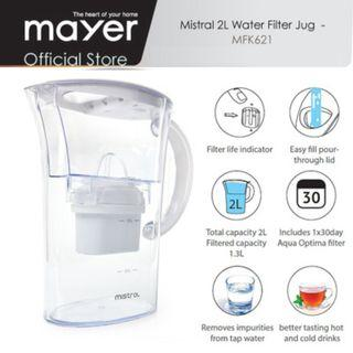 Brand New Mistral 2L Filter Jug