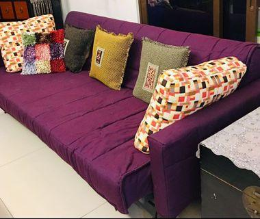 Washable spacious 3-seater sofa bed