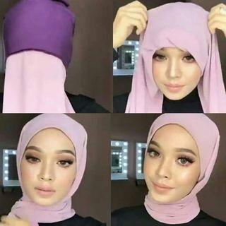 Instant shawl with Inner (readystock colors)