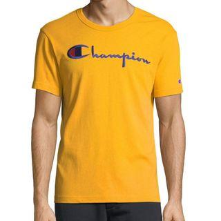 Champion Life Heritage Script Embroidered T Shirt Gold
