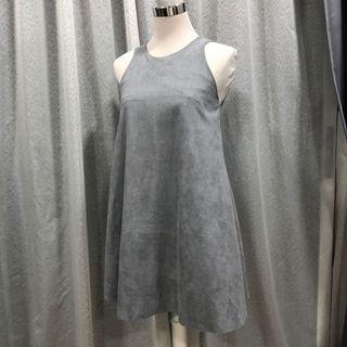 Grey Dress velvet dress