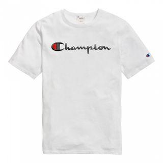 Champion Life Heritage Script Embroidered T Shirt White