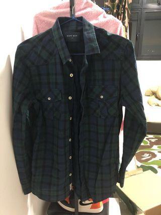 🚚 Shirt navy and green