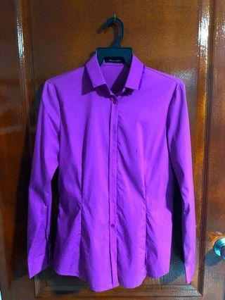 Authentic G2000 Women's Blouse - Size 36 (Purple)