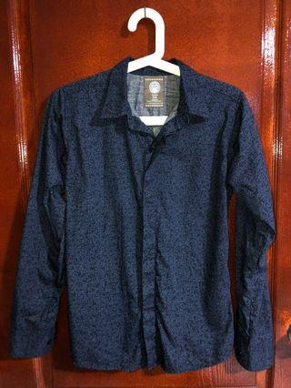 🚚 Men Long Sleeves Shirt (Navy Blue)