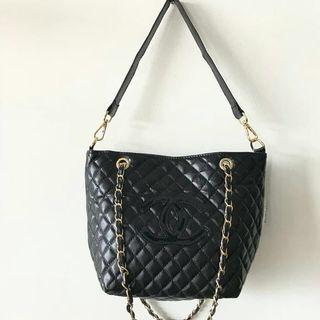 Chanel Quilted Tote Bag VIP Authentic Gift Original