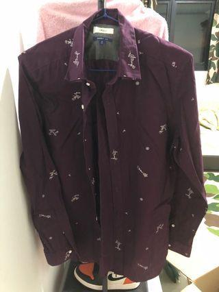 🚚 G2000 maroon shirt