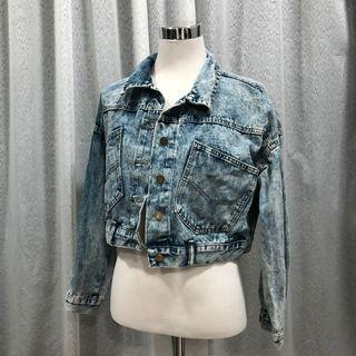 Denim cropped jacket