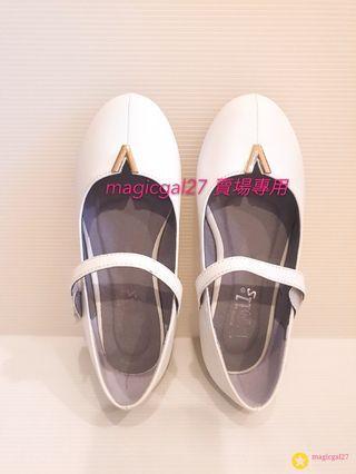 Doll house 白色花童皮鞋20公分 穿過一次