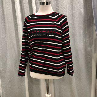 Knitted pullover stripe