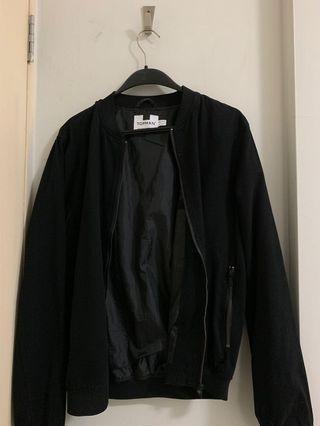 🚚 Topman Black Bomber Jacket