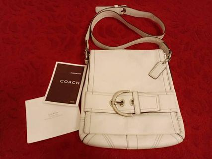 Original Coach Sling Bag (Adjustable) Material Fully Leather Zip YKK Condition Tip Top Rm150(nego)