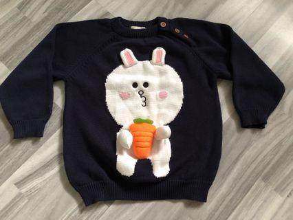 🚚 Line character knitted pull over