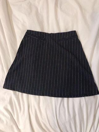 Vintage pinstripe skirt