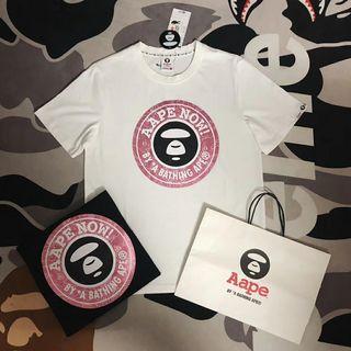 Aape猿人頭字母短袖T恤