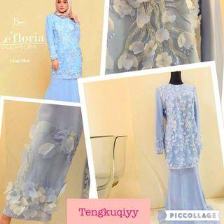 Beautiful preMium pastel baju kurung