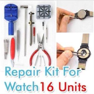 FREE MAIL 16 Pcs All In One Watch Tool Set New Repair Watches Strap Kit Professional Rolex