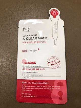 Dr.G Lock & More A-Clear Mask 25ml exp 01/03/2021 box of 8 pcs