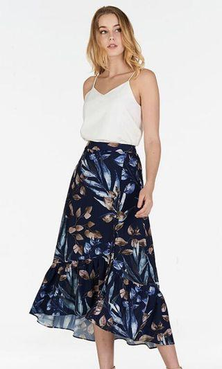 TCL Ferlina printed skirt in navy