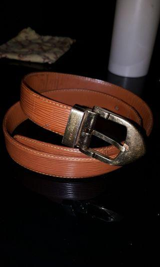 Louis Vuitton Epi Leather Brown Belt Authentic