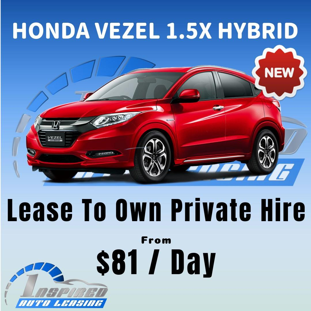[ Brand New ] HONDA VEZEL 1.5X HYBRID * Lease To Own *