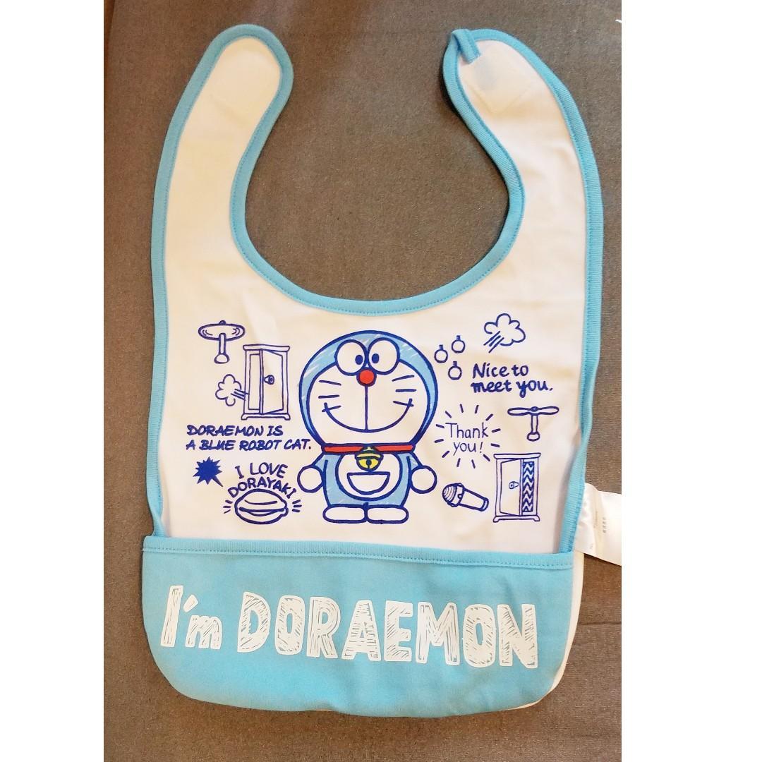 日本 Doraemon 多啦A夢  嬰兒用品 BB 防水 口水肩 嬰兒 奶巾 口水巾 圍嘴 Baby Bib (包郵)
